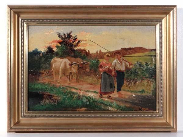 Edoard Debat Ponsan (1847-1913) Oil on canvas Figures