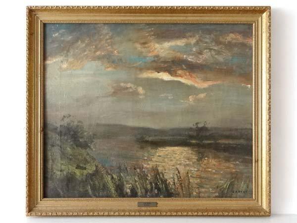 John Arthur Dees ( 1876-1959) RARI Oil on canvas River