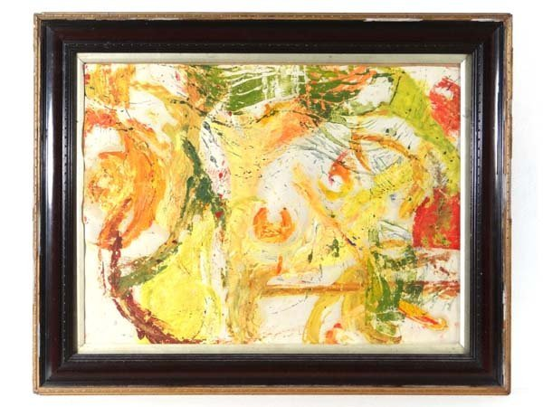 Alison Dunhill XX Oil on paper Abstract Ascribed verso