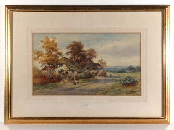Harold Lawes ( 1865-1940) Watercolour ' Near Penington