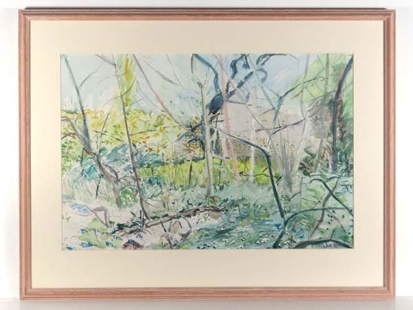 Alison Dunhill Pencil and Watercolour A Wooded