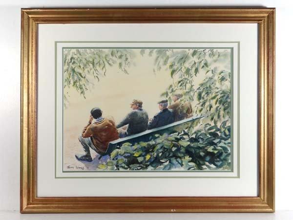Jeremy Schrag 1993 Watercolour and gouache Four men