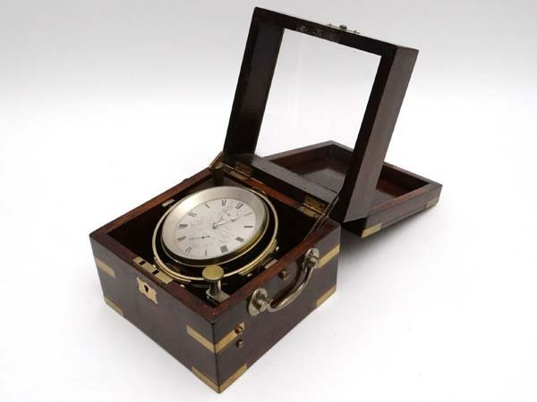 Marine Chronometer : A 19thC two day marine chronometer