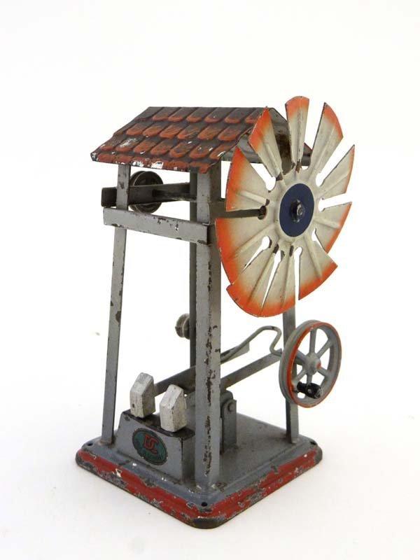 Toy : A Bing Tinplate model , working wind driven