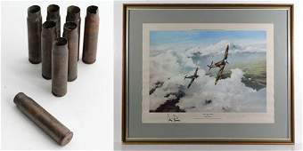 WWII Spitfire   Robert Taylor Colour print   Duel of