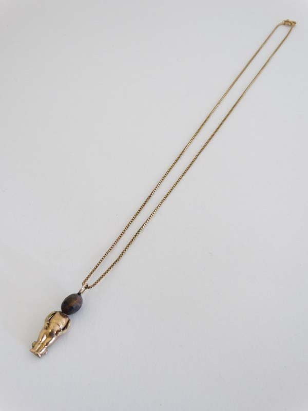 Fumsup Lucky Charm Necklace : A 9ct gold necklace with - 4