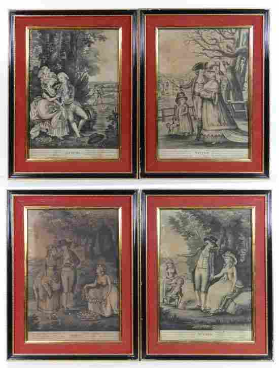 Sayers and Bennett 1785 A set of 4 Mezzotints  The Four
