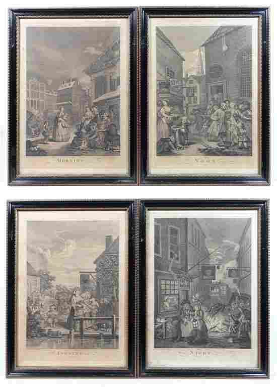 After William Hogarth (1697-1764)  Set of Four