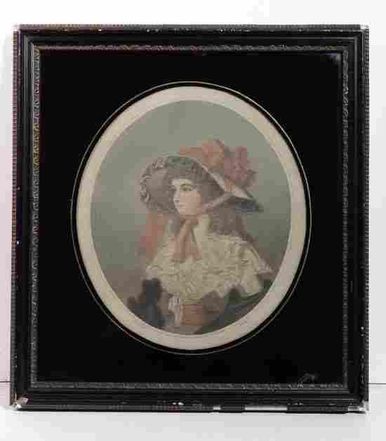 Ward after Smith XVIII-XIX Hand Coloured mezzotint ,an