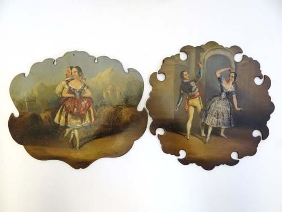 Romantic Ballet Interest : Two early - mid 19thC
