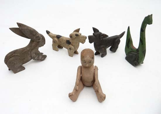 Folkart Toys : A quantity of early 20thC mainly