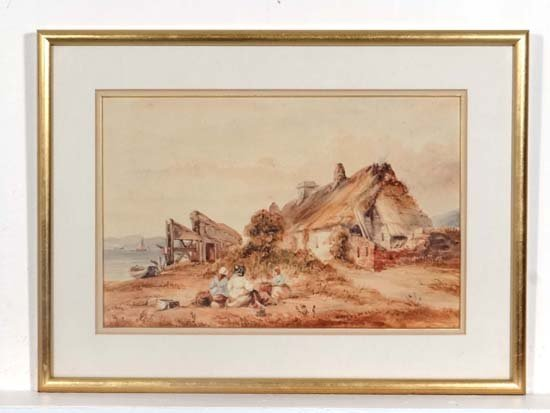 Manner of David Cox XIX Watercolour ' Rosses Point '