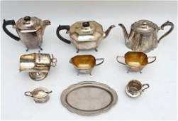 A quantity of assorted silver plated wares to include a