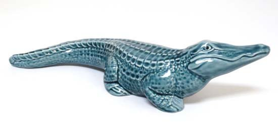 Poole Pottery : A Poole figure of a crocodile. Probably