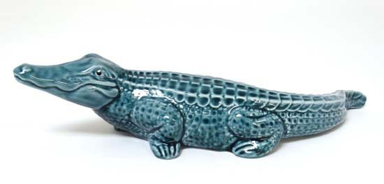 Poole Pottery : A Poole figure of a crocodile. Probably - 4