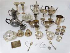 A quantity of assorted silver plate wares to include