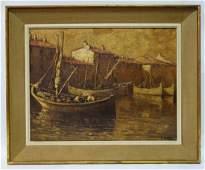 J Gildas midlate XX Continental School Oil on canvas