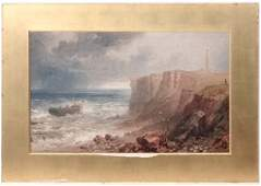 Manner of J M W Turner XIX Oil on board A demasted