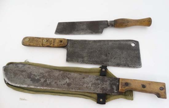 A Martindale of Birmingham machete No. 227 with canvas