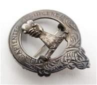 A Scottish silver Inverness clan badge hallmarked