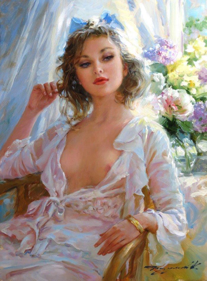 "Konstantin Razumov (b.1974) Russian School, "" Irina ""."