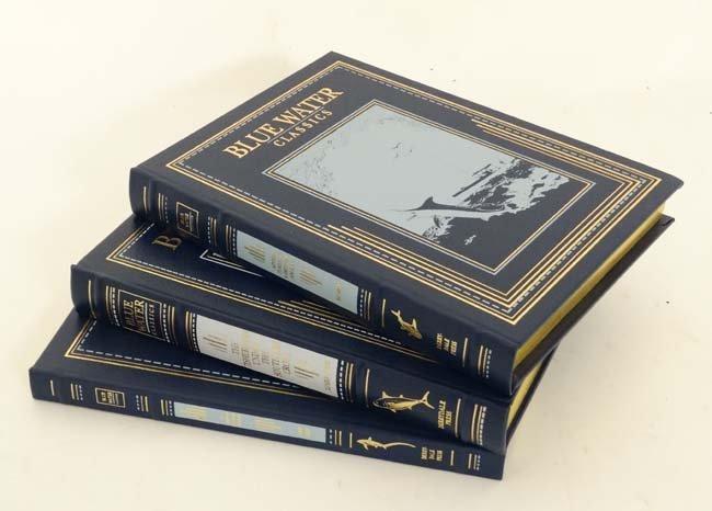 Books: Three Limited Edition Blue Water Classics books.