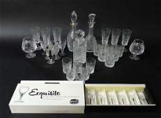 A large quantity of assorted crystal glassware to