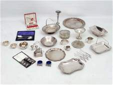A large quantity of assorted silverplated wares to