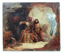 17 th C Spanish SchoolOil on canvasSpanish Soldiers