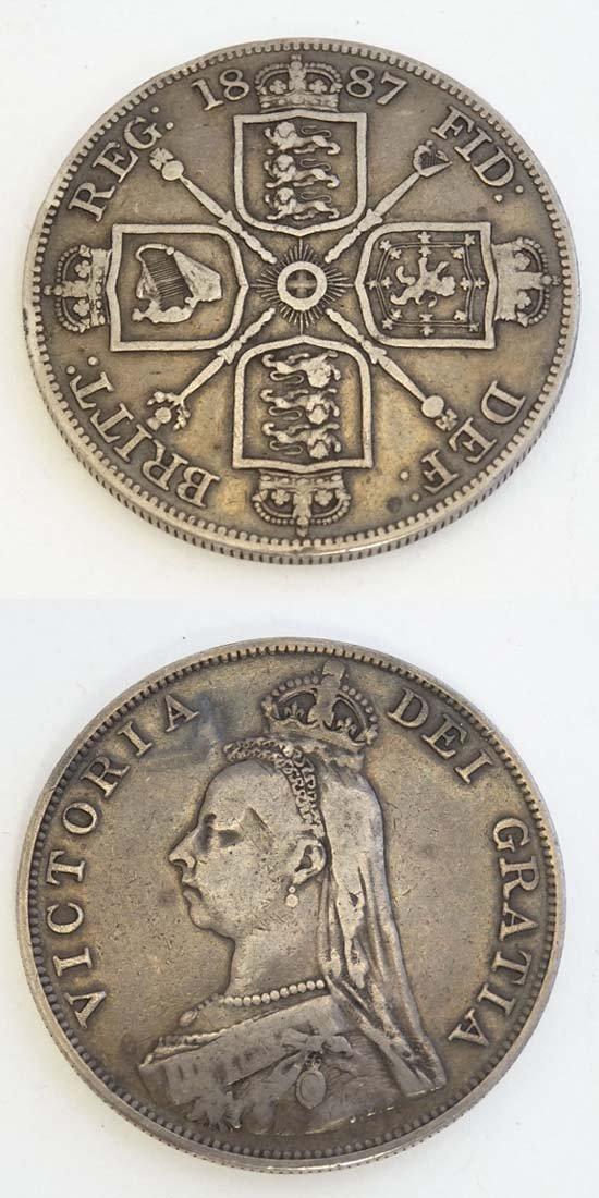 Coin : A Victorian 1887 double florin.