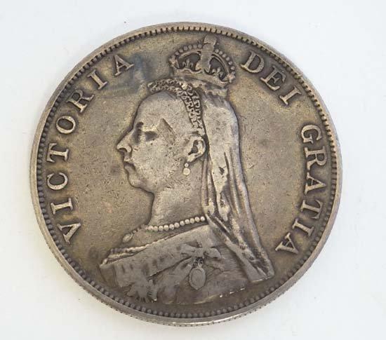 Coin : A Victorian 1887 double florin. - 2