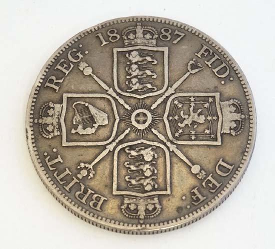 Coin : A Victorian 1887 double florin. - 3