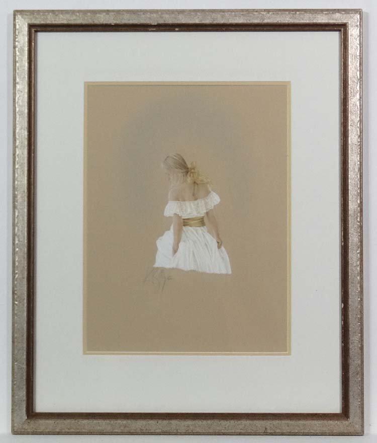 K.ay Boyce XX-XXIWatercolour and gouache' White dress