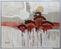 Lee Reynolds Burr (1936-) American,Oil on canvas,Tree