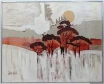 Lee Reynolds Burr (1936-) American, Oil on canvas, Tree