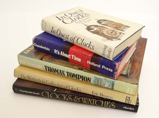 Books : Five books on watches and timepieces to include