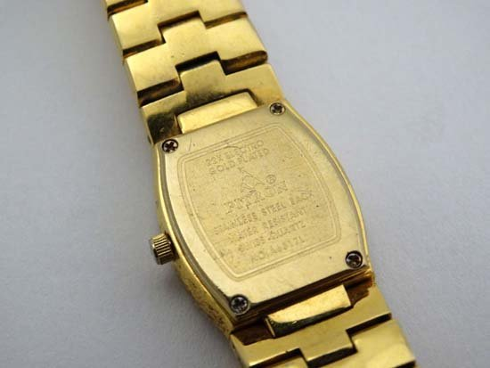 Fitron 22 carat gold plated ladies watch : a Tonneau - 2