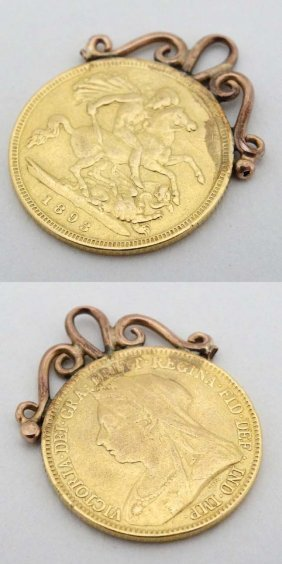 Coin: An 1893 Queen Victoria Gold Half Sovereign With