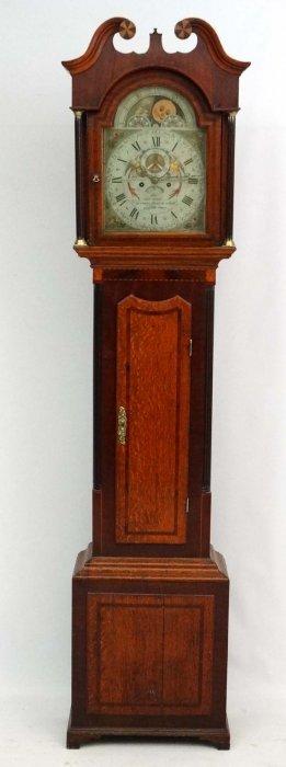 Fine Georgian Longcase : ' G Wilkinson, Tadcaster ' A