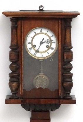Clock : A Circa 1900 Vienna Wall Clock With 8 Day