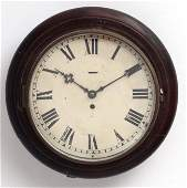 Clock  a 19 th C mahogany cased 12 wall Timepiece