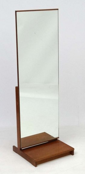 Vintage Retro : A Teak Framed Cheval Mirror With Tilt
