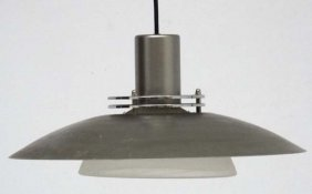 Vintage Retro : A Danish Pendant Light With Grey