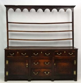 18 Thc Oak Dresser : An Open Plate Rack Over A Three