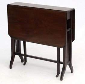 A Late 19thc Mahogany Sutherland Table ( 6 Leg) With