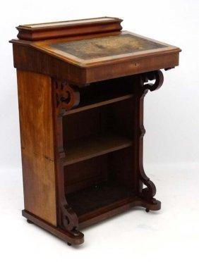 A 19thc Mahogany Library Davenport Bookcase 47'' High X