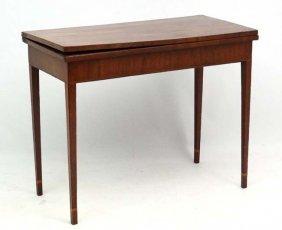 An Early 19thc Mahogany Fold Over Tea Table With