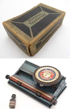 A C1900 Tinplate American Made '' Simplex ''