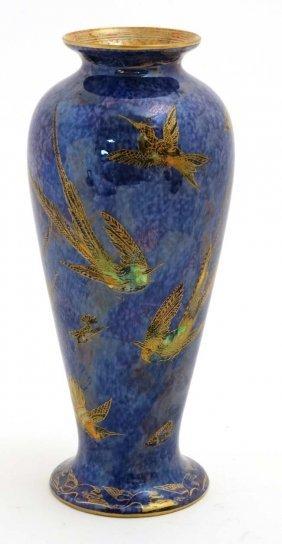 A Wedgwood '' Humming Bird '' Pattern Lustre Vase,