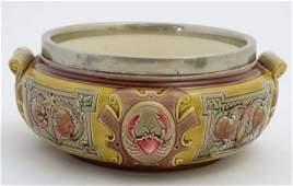 A c1893 Wedgwood majolica two handled salad bowl,